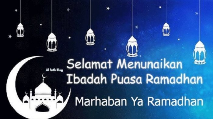 gambar ucapan selamat menunaikan ibadah puasa marhaban ya ramadhan