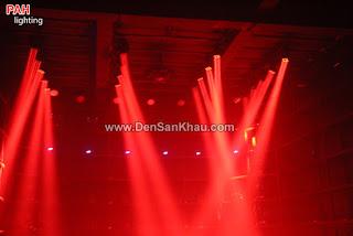 Đèn chớp sàn nhảy màu đỏ