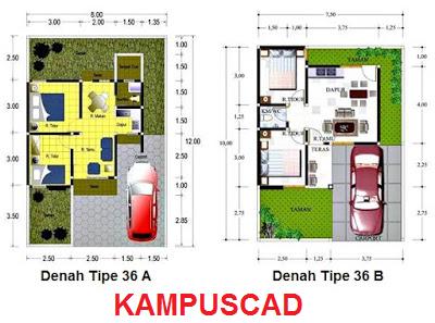 penjelasan tipe rumah 21, 36, 45, 54, 60, 120 dll & contoh