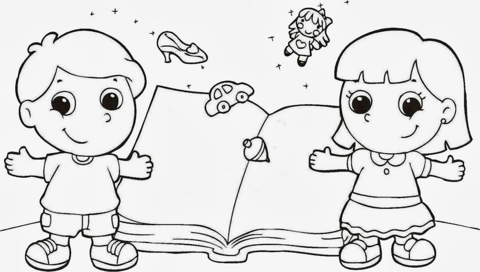 Desenhos Do Dia Do Livro Para Colorir