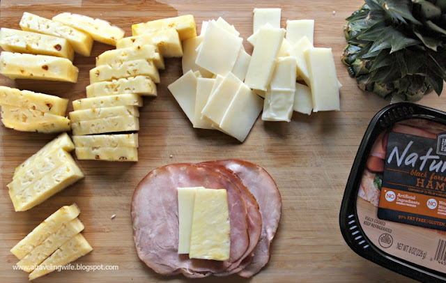 deli meat, pineapple, snack, cheese #ad