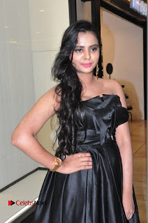 Actress Manasa Himavarsha Pictures in Black Short Dress at The Great Hydrerabad Life Style EXPO II  0019.JPG