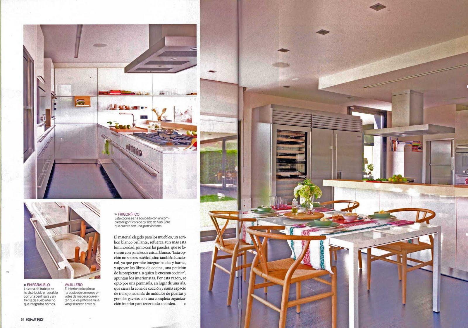 amazing becara pamplona en un reportaje del suplemento cocinas y baos de la revista el mueble with revista de cocinas