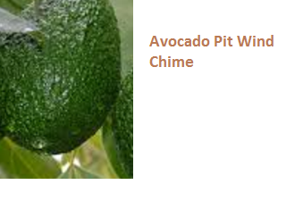 Avocado Pit Wind Chime