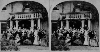 stereoscopic view of a family portriat