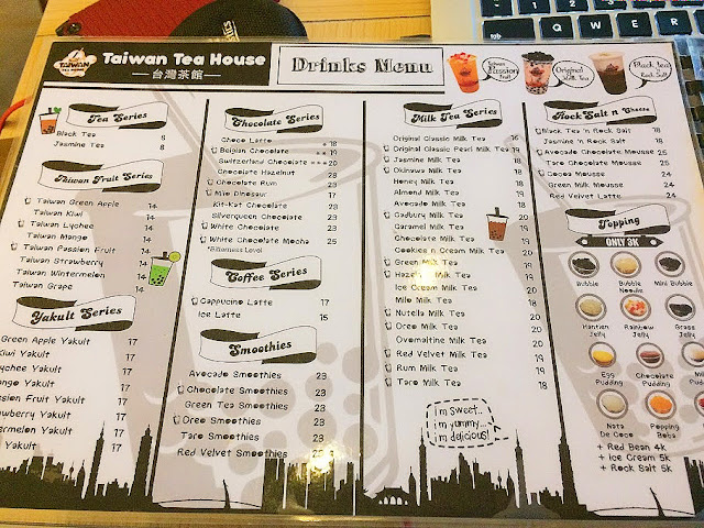 menu taiwan tea house