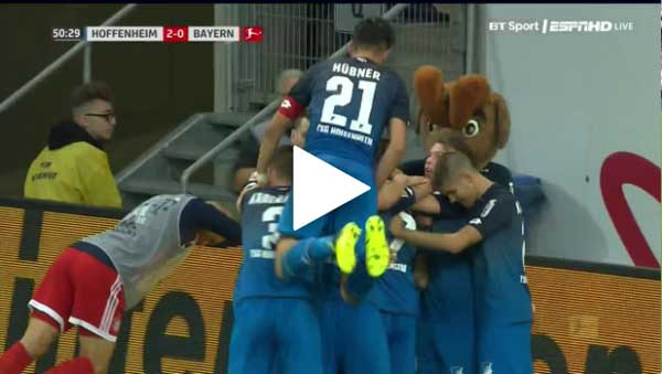 Video Hoffenheim 2 - 0 Bayern Munich