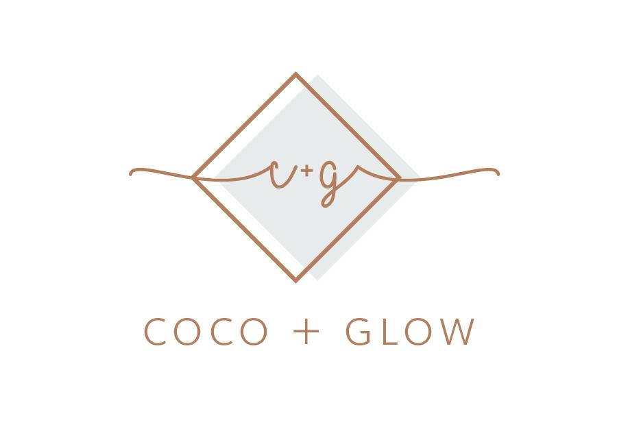 Coco+Glow Logo design