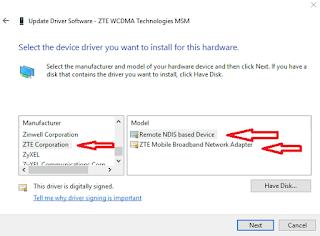 Cara Menggunakan Modem 4G LTE ZTE dan Huawei Pada MMD/MDMA