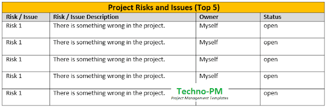 how to write effective project status, one page report