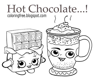 Candy cartoon sweet clipart color online free cute chocolate hot drink coloring images for girls art