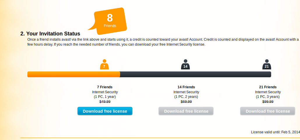 Avast free Internet Security license