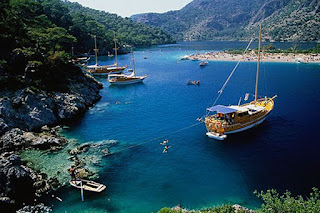 Great visual of the beaches and holiday destinations in Turkey