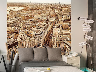 panoramic 3D wallpaper designs for living room walls