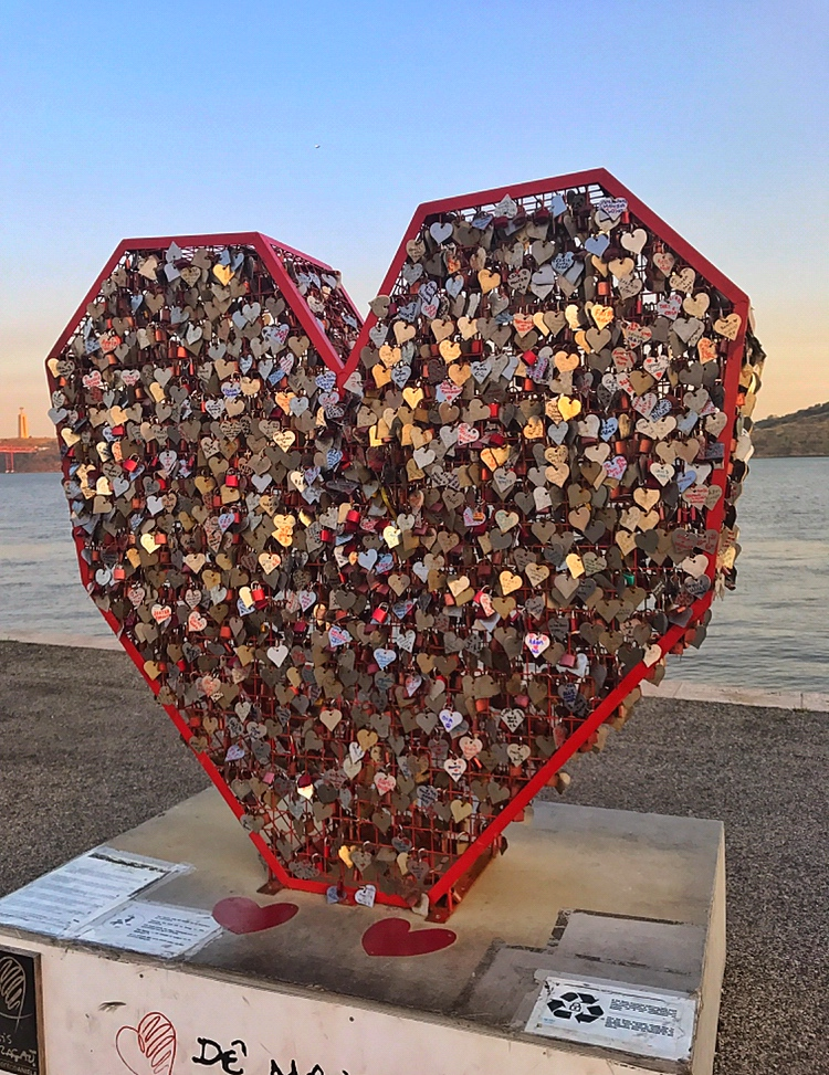 Valentines in modern times love locks abroad
