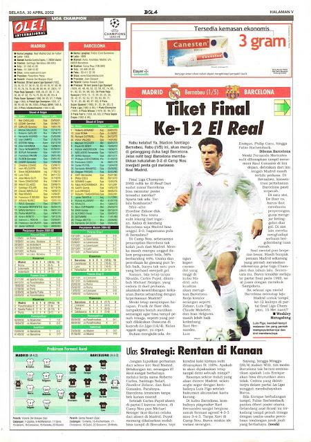 MADRID VS BARCELONA TIKET FINAL KE-12 EL REAL