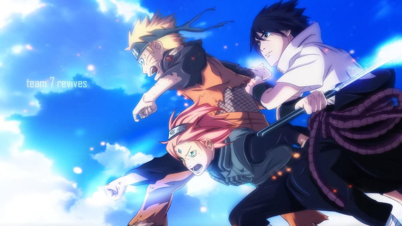 team 7 naruto sakura sasuke 3d wallpaper hd