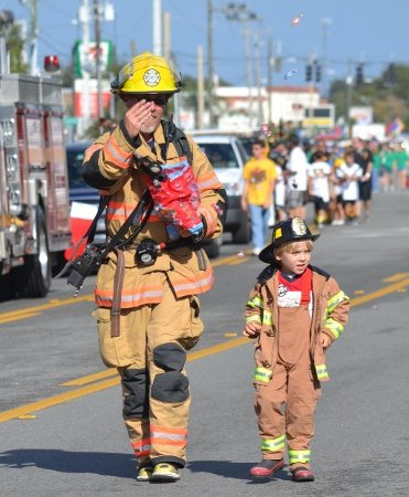 Fireman at Merritt Island Christmas Parade