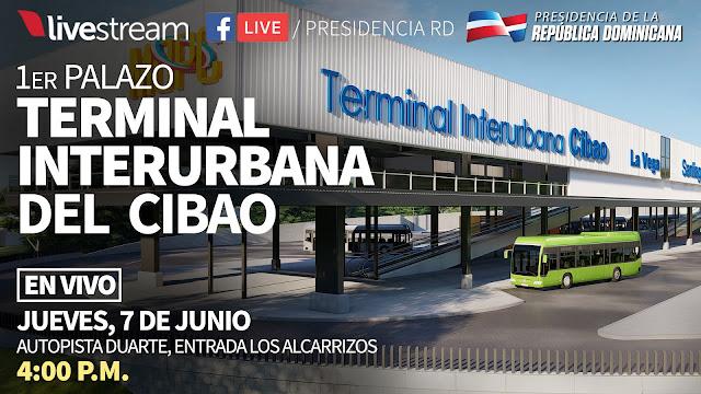 EN VIVO: 1er Palazo Construcción Terminal Interurbana del Cibao 