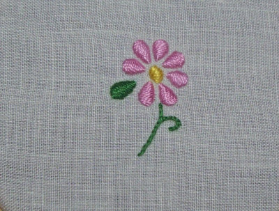 Padded satin stitch - Punto pieno