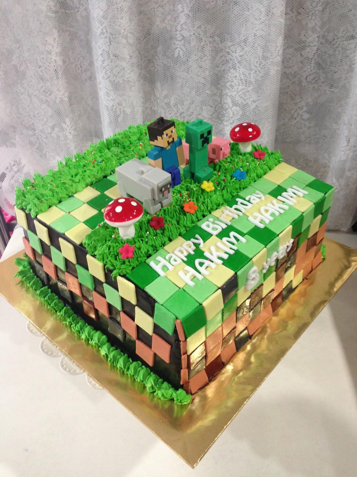 Ninie Cakes House Minecraft Birthday Cakes Theme Mine Craft