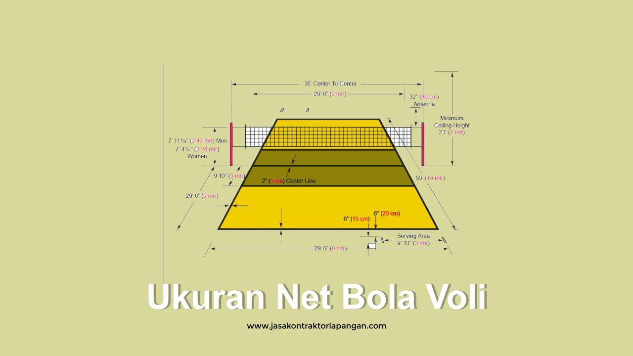 Ukuran Lapangan Bola Voli Standar Internasional Dan Nasional Sport Futsal