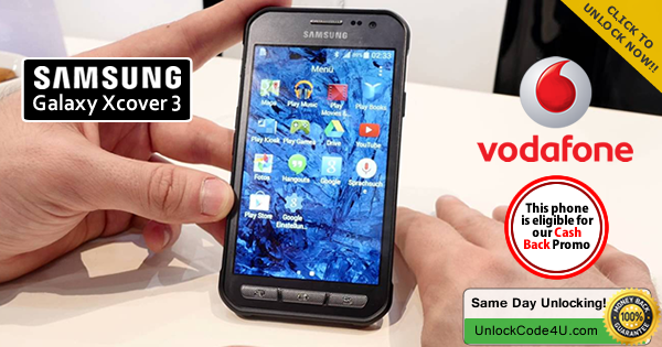 Factory Unlock Code for Samsung Galaxy Xcover 3 from Vodafone
