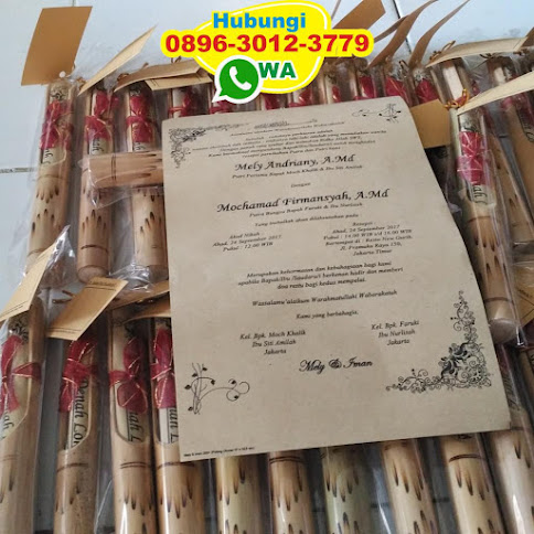 pabrik Undangan bambu gulung reseller 49927