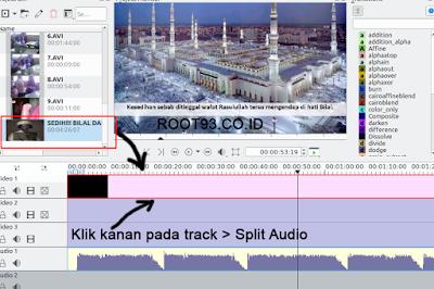 Menghapus video menggunakan kdenlive