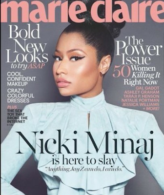 Nicki Minaj stuns on the cover of Marie Claire magazine