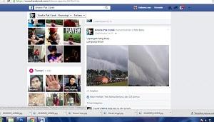 Facebook yang share foto ombak tsunami