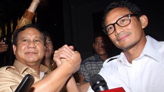 Survei Internal Prabowo-Sandi: Menang 2-4 Persen