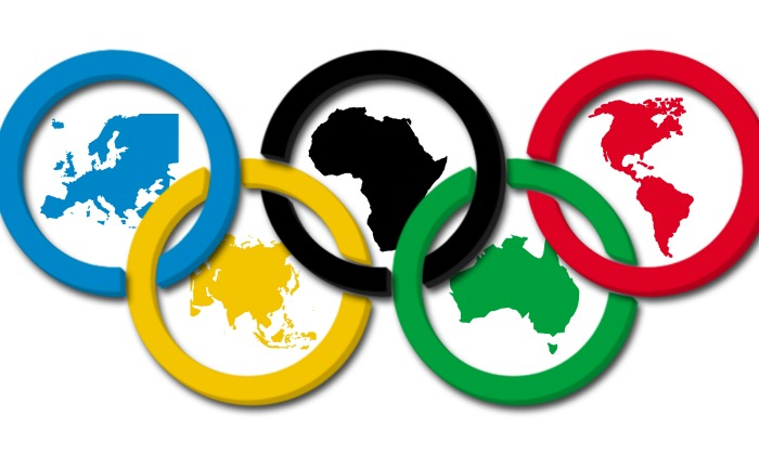 why does olympic flag have 5 rings