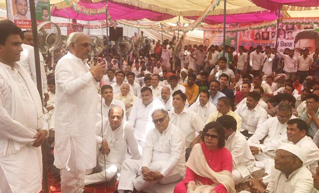 congress-party-agitation-at-palla-pul-chowk-faridabad