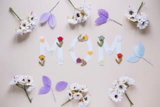 texto mom flores