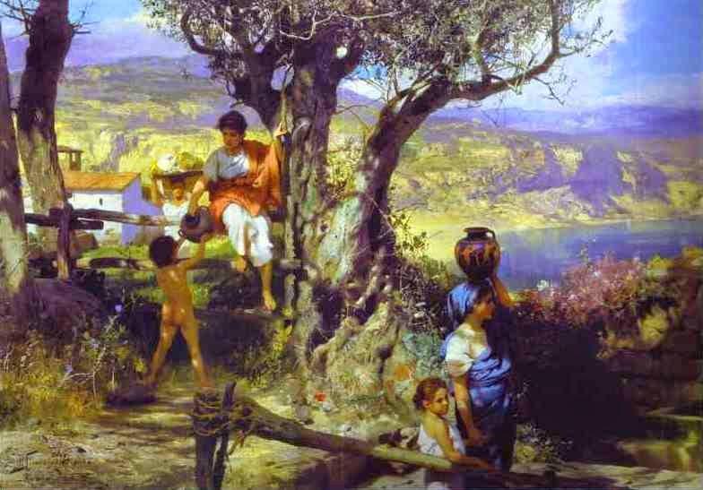 Roma Antiga em uma Vila - Henryk Siemiradzki e suas pinturas ~ Polonês
