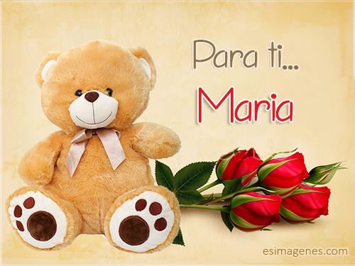 Feliz Cumpleaños Maria - Imágenes Tarjetas Postales con