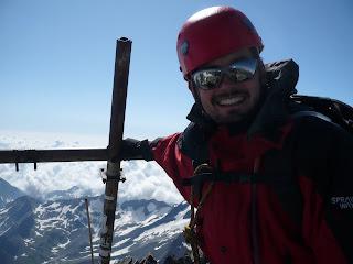 Am Gipfel (und nein, ich habe mich so nicht gesichert ;-)