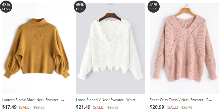 Wishlist: Sweaters da Zaful