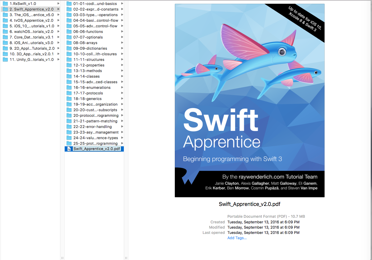 Download Pdf Swift Apprentice Second Edition Begin Programming With Swift 3  Ray Wenderlich Full Source Code