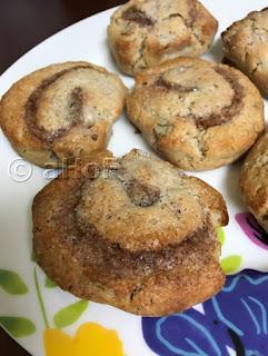 Buckwheat Cinnamon Roll Scones