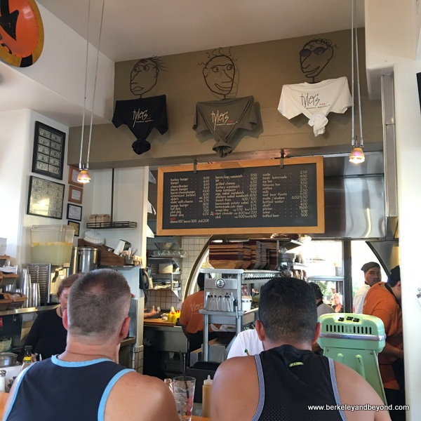 interior counter at Tyler's Burgers in Palm Springs, California