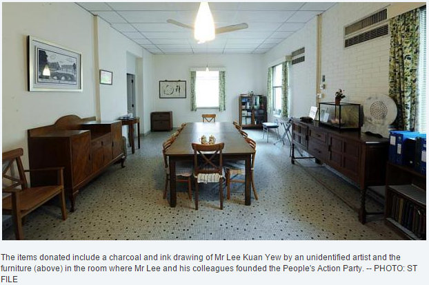SEVERAL Belongings From The Home Of The Late Mr Lee Kuan Yew, Singaporeu0027s  First Prime Minister, Have Been Donated To The National Heritage Board  (NHB) For ...