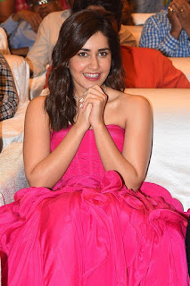 Indian Actress Rashi Khanna at Prathi Roju Pandage Movie Function (8)