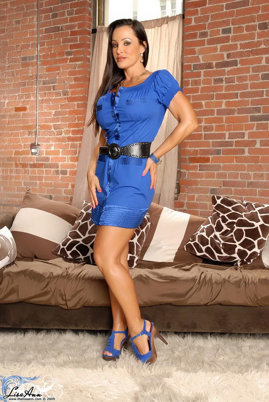 Lisa Ann Angel In A Blue Dress - LISA ANN - The Gorgeous