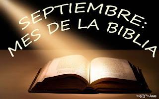 Resultado de imagen para septiembre mes de la biblia