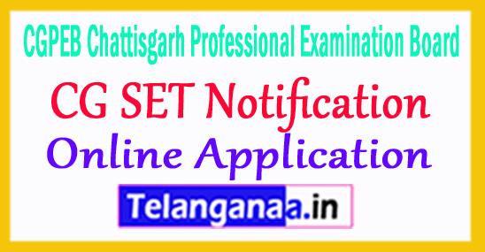CG SET Notification 2017 Apply Online Chhattisgarh SET Online