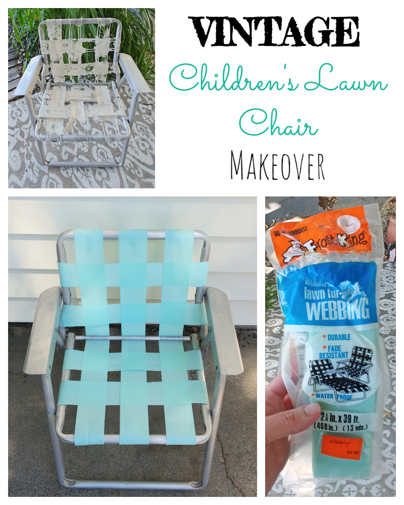 Vintage Children's Lawn Chair Makeover