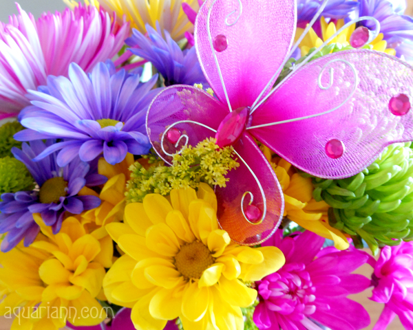 Butterfly Birthday Bouquet Photo by Aquariann