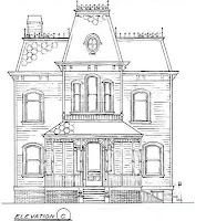 Elevation of the house